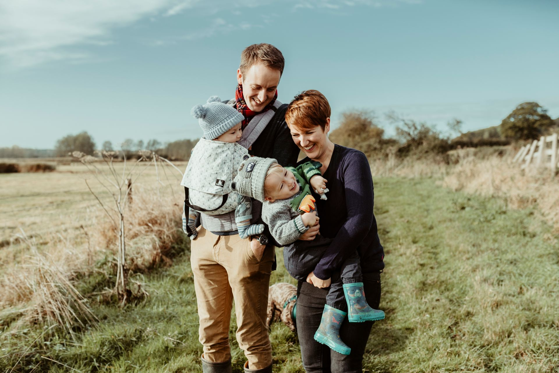 Essex Family Photographer with laughing family