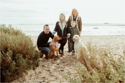 Essex Family by the coast on photoshoot